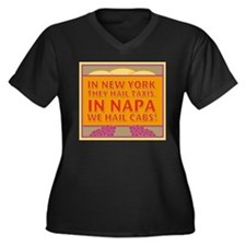 New! Napa We Hail Cabs  Women's Plus Size V-Neck D