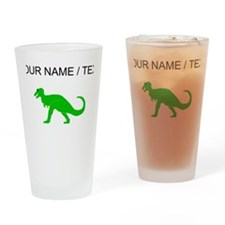 Green T-Rex (Custom) Drinking Glass