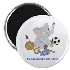 Personalized Sports - Elephant Magnet