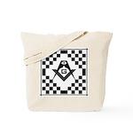 Masonic Tiles - Checkers Tote Bag
