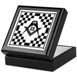 Masonic Tiles - Checkers Keepsake Box