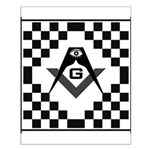 Masonic Tiles - Checkers Small Poster