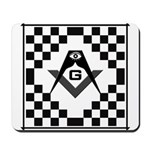 Masonic Tiles - Checkers Mousepad