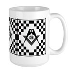 Masonic Tiles - Checkers Large Mug