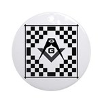 Masonic Tiles - Checkers Ornament (Round)