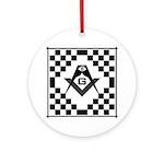 Masonic Tiles - Checkers Ornament (Round)