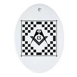 Masonic Tiles - Checkers Oval Ornament