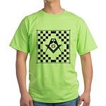 Masonic Tiles - Checkers Green T-Shirt