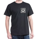 Masonic Tiles - Checkers Dark T-Shirt