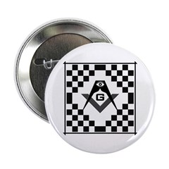 Masonic Tiles - Checkers 2.25&quot; Button (10 pack)