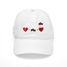 Broken Heart + Chocolate Baseball Baseball Cap