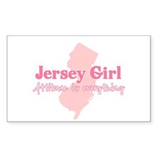 Jersey Girl Rectangle Decal