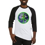 Earth Peace Symbol Baseball Jersey