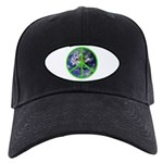 Earth Peace Symbol Black Cap