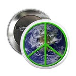 Earth Peace Symbol Button