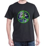Earth Peace Symbol Dark T-Shirt
