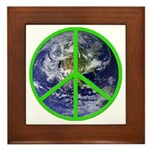 Earth Peace Symbol Framed Tile