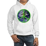 Earth Peace Symbol Hooded Sweatshirt