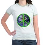 Earth Peace Symbol Jr. Ringer T-Shirt