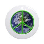 Earth Peace Symbol Ornament (Round)