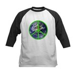 Earth Peace Symbol Kids Baseball Jersey
