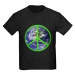 Earth Peace Symbol Kids Dark T-Shirt