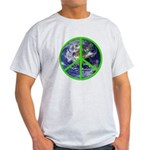 Earth Peace Symbol Light T-Shirt