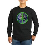 Earth Peace Symbol Long Sleeve Dark T-Shirt