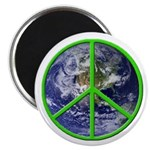 Earth Peace Symbol Magnet