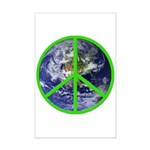 Earth Peace Symbol Mini Poster Print