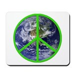 Earth Peace Symbol Mousepad