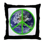 Earth Peace Symbol Throw Pillow