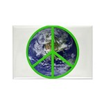 Earth Peace Symbol Rectangle Magnet