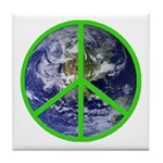Earth Peace Symbol Tile Coaster