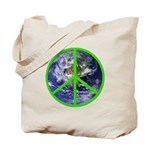 Earth Peace Symbol Tote Bag