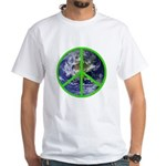 Earth Peace Symbol White T-Shirt