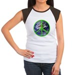 Earth Peace Symbol Women's Cap Sleeve T-Shirt