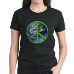 Earth Peace Symbol Women's Dark T-Shirt