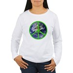 Earth Peace Symbol Women's Long Sleeve T-Shirt