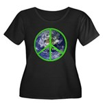 Earth Peace Symbol Women's Plus Size Scoop Neck Da