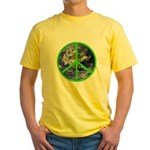 Earth Peace Symbol Yellow T-Shirt