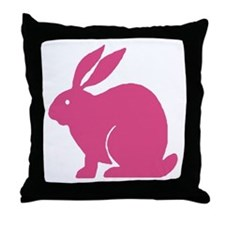 Pink Bunny Rabbit Throw Pillow