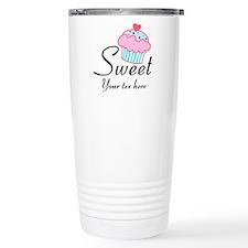 personalized Sweet Cupcake Travel Mug