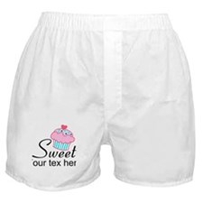 personalized Sweet Cupcake Boxer Shorts