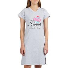 personalized Sweet Cupcake Women's Nightshirt