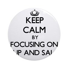 Keep Calm by focusing on Soup And Ornament (Round)