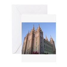 Salt Lake Temple Sunset Greeting Cards