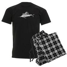 Sail Fish Silhouette Pajamas