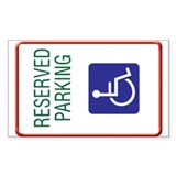 Disabled Persons Personal Rectangle Decal