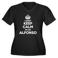 Cool Alfonso Women's Plus Size V-Neck Dark T-Shirt